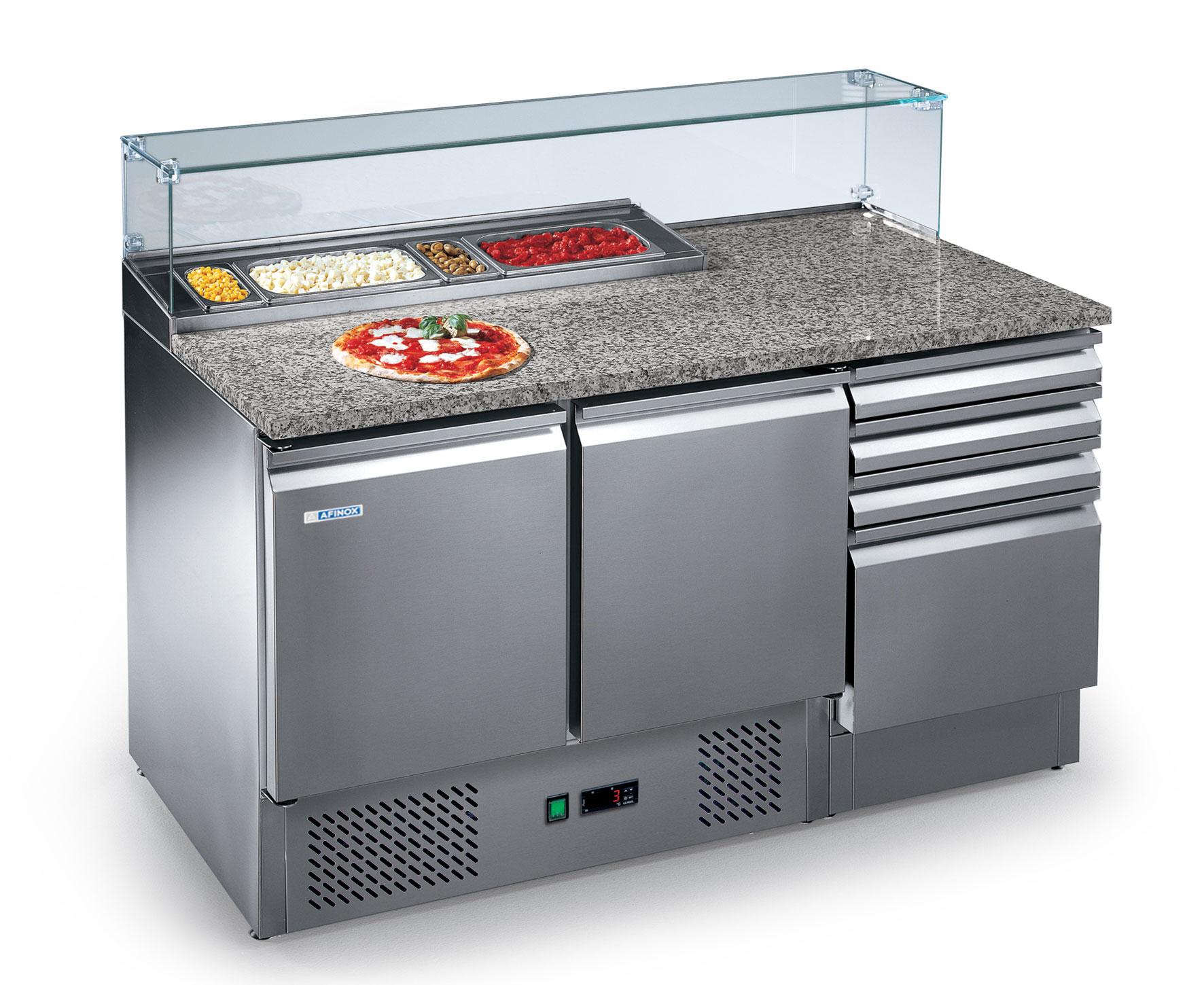 banchi e tavoli pizza, pizza counters and tables, bancos y mesas de pizza