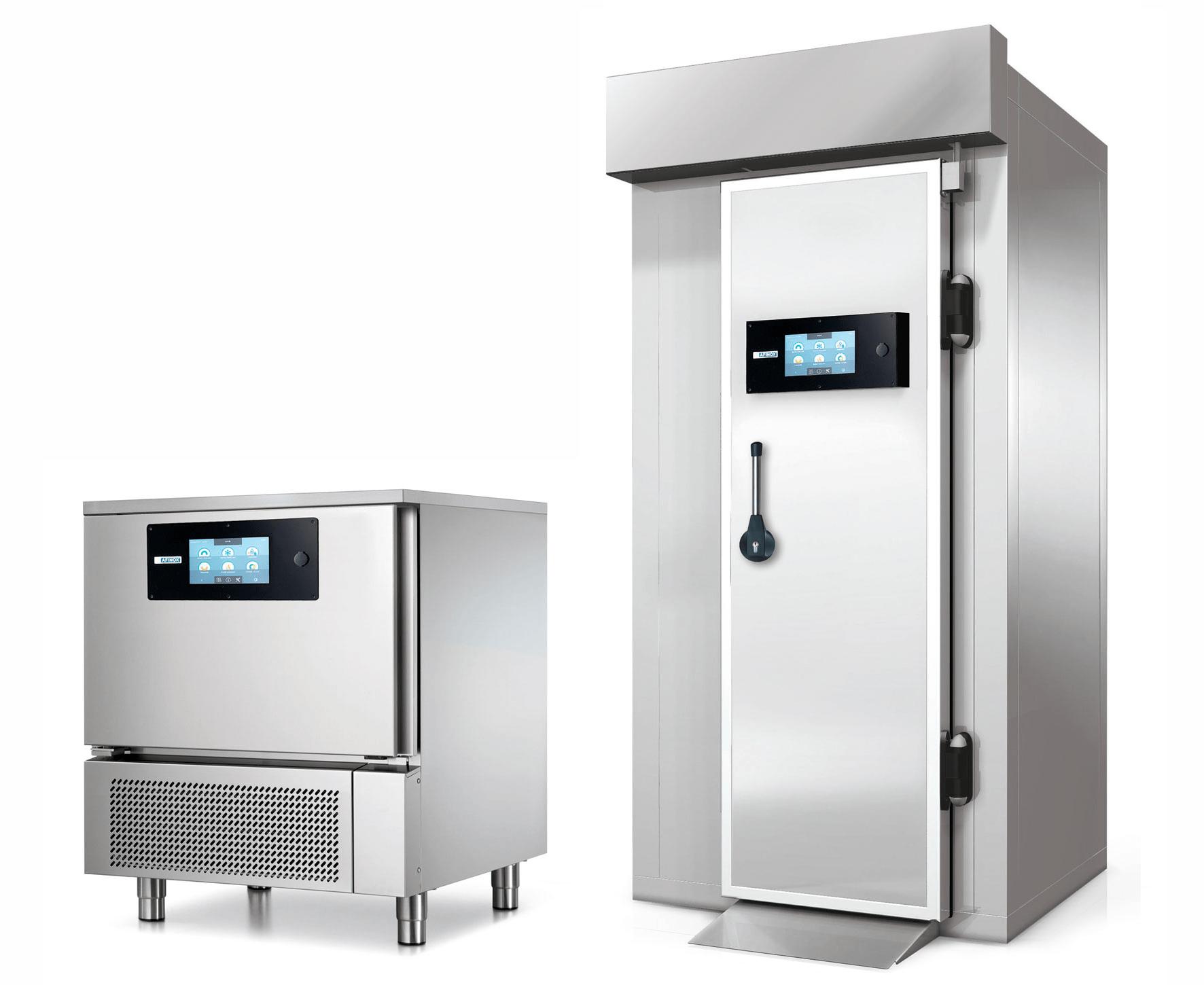 abbattitori e surgelatori rapidi di temperatura, blast chillers and shock freezers, Abatidores y congeladores rapidos, Schnellabkühler und schockfroster, cellules de refroidissement rapide